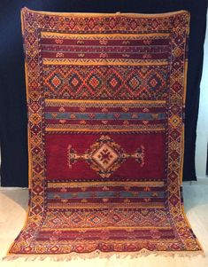 Excited to share this item from my shop: Vintage Tazenakht Moroccan Rug. ft x ft / 247 cm x 149 cm Fast Worldwide Shipping directly from Morocco all wool Teppich, carpet Wool Area Rugs, Wool Rug, Art Chinois, Art Japonais, Beni Ourain, Geometric Rug, Berber Rug, Rugs On Carpet, Carpets