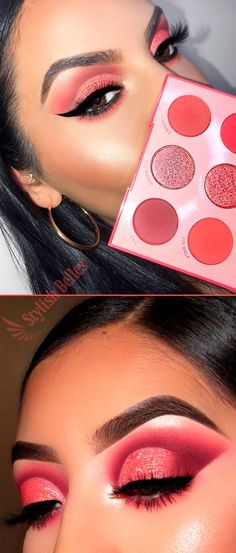 If you are looking for an eyeshadow palette cheap and gives you an adorable summery eye makeup look then check the new ColourPop Main Squeeze Shadow Palette. Eye Makeup Steps, Eye Makeup Art, Clown Makeup, Devil Makeup, Halloween Makeup, Makeup Stuff, Makeup Morphe, Colourpop Eyeshadow, Makeup Dupes