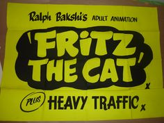 UK Quad - dayglo design for Fritz the Cat d/b Heavy Traffic.  Director: Ralph Bakshi (1972)