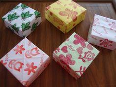 KAĞIT KUTU YAPIMI :)  paper boxes
