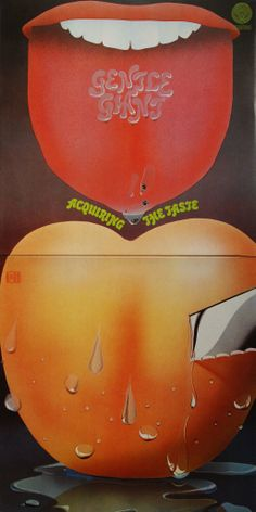 Gentle Giant - Acquiring the Taste (UK) Lp Cover, Cover Art, Progressive Rock, Gentle Giant, Psychedelic Art, Lps, Album Covers, Vinyl Records, Rock And Roll