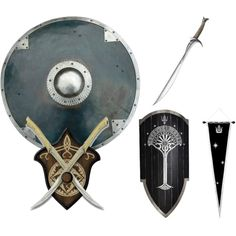 """""""Lord of the Rings Armor and Wepons"""" by thepenandink on Polyvore"""