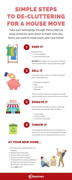 Top tips for decluttering when moving house