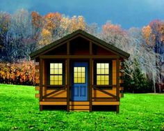 Cabin Plan: 260 Square Feet, 1 Bedroom, 1 Bathroom - 154-00004