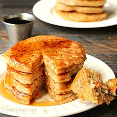 Carrot Cake Pancakes. This is the perfect way to enjoy 'cake' for breakfast!