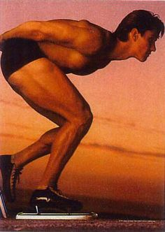Eric Heiden won 6 Olympic Gold medals in speed skating (1980), came home and raced pro bicycling and won the first US Professional Cycling Championship,....Then he finished college and moved to California to practice as an orthopedic surgeon.  This pic was from an American Express ad.