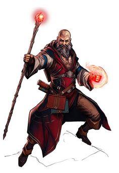 Elf Sorcerer Pathfinder Paizo__Human Wizard