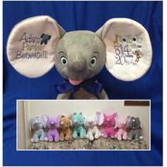 A personal favorite from my Etsy shop https://www.etsy.com/listing/280736228/personalized-birth-stats-dumble-elephant