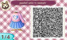 manucrossing — laprasses: cute lil unicorn sweater & skirt
