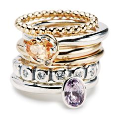 I love Pandora's stackable rings. Perfect for celebrations!