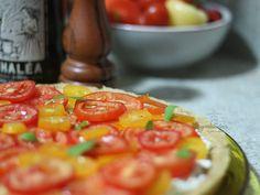 Torta de Tomates e Ricota. Receita completa em http://gordelicias.biz.