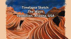 Time Lapse Sketch of The Wave Formation, Vermillion Cliffs National Monu...