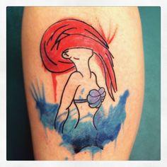 Watercolor Ariel