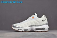 9502ea898bf2 Off-White x Nike Air Max 95 Mens Shoes White Silver 609048-109 For