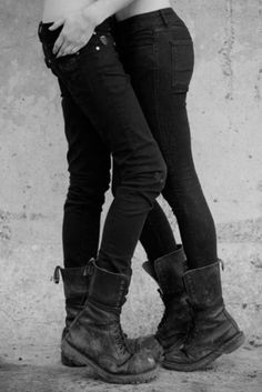 heavy boots, black jeans