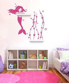 Take a look at this Pink It's A Mermaid Thing Shelf & Wall Decal Set by Sissy Little on #zulily today!