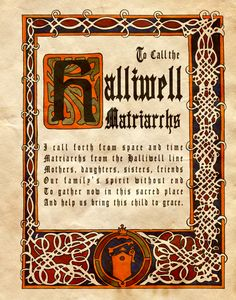 """""""To Call the Halliwell Matriarchs"""" - Charmed - Book of Shadows"""