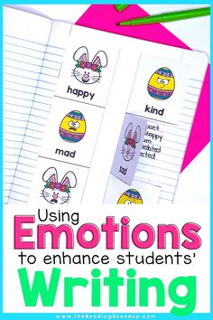 Are you looking for new ways to encourage your elementary students to add more details to their writing? Read these simple ideas for using emotions to improve students' writing. The activities also help increase students' vocabulary and will make writers workshop fun for students and their teachers! Don't miss the FREE printable anchor chart to display in your classroom or add to students' writers notebook. #thereadingroundup #writersworkshop #easteractivitiesforkids Vocabulary Instruction, Vocabulary Activities, Creative Writing Stories, Emotion Words, Reading Response Journals, Small Group Reading, Writing Anchor Charts, Writers Notebook, Writing Strategies