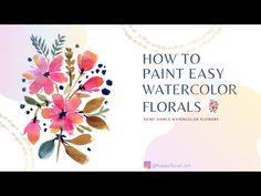 Watercolor Flowers Tutorial, Watercolour Flowers, Watercolor Brushes, Easy Watercolor, Flower Tutorial, Floral Watercolor, Watercolor Paintings, Speed Paint, Tutorials