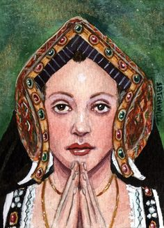 Katherine of Aragon by Mark Satchwill. Mother of Mary I.