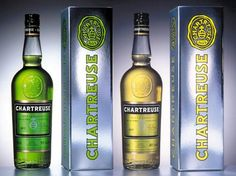 Chartreuse (Voiron, Isère, France) -- 110-proof green, 80-proof yellow, 130-herb liqueur
