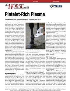 The Horse | Platelet-Rich Plasma | TheHorse.com