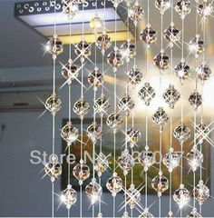Crystal bead curtain for partition entranceway home decoration crystal curtains glass bead curtain