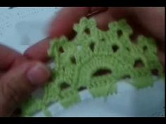 carla train shared a video Crochet Edging Patterns, Crochet Lace Edging, Baby Knitting Patterns, Hand Embroidery, Embroidery Designs, Crochet Instructions, Crochet Videos, Tatting, Free Pattern