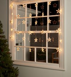 Dress your windows to impress with our pretty LED Star Icicle Lights. Subtle yet… Dress your windows to impress with our pretty LED Star Icicle Lights. Subtle yet effective, they hang pretty and illuminate your home with lots of glowy goodness.