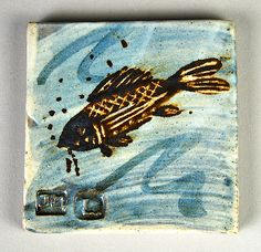 Jim Malone Pottery Tile 4"