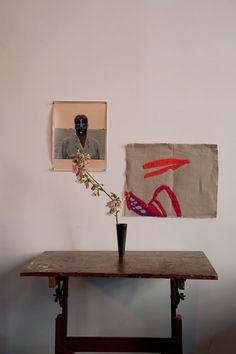 With Karen Belardi's art and Dietmar Busse's painted photo.