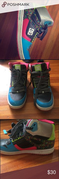 D.C. Sneakers Used women's sneakers size 8.5. Tonge has little wear but over all in good shape. DC Shoes Sneakers