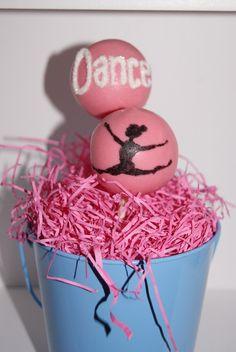 Dance cake pops!  Love.