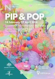 Pip & Pop works using fine sand, sugar, origami, plastic figures, glitter, lights and found objects to create intricate, gloriously technicoloured worlds.