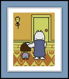 Free Toriel and Frisk Cross Stitch Pattern Undertale Video Game Nerdy Modern by Cross Stitch Quest