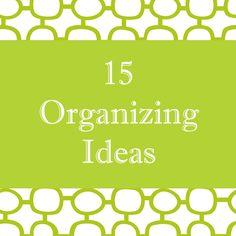 37 DIY Organizing Ideas!
