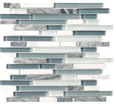 Glass Stone Linear Blend par Bliss mosaic, 8 couleurs