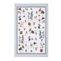 MF Hippity Hoppity Bunnies Linen Tea Towel