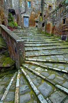 Streets of Pitigliano Tuscany italy