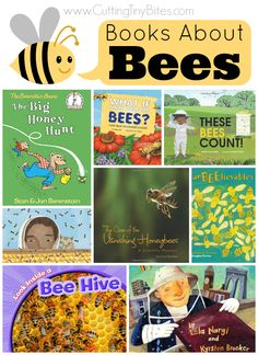 Childrens Books About Bees.  Choices for toddlers, preschoolers, and elementary kids; great for an insect theme unit.