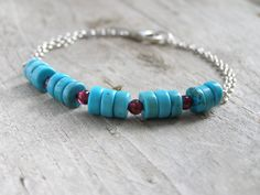 Free shipping Casua l bracelet mint blue with by gembracelet, $20.00