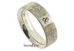 You & Me Forever Fingerprint Wedding Ring in por fabuluster en Etsy