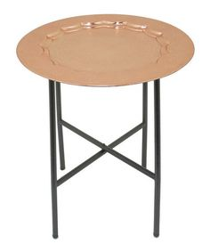 Large Copper Tray Table #zulily #zulilyfinds