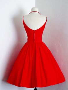 vintage 1950's E.T. Jrs by Elaine Terry candy apple red by dLeChe