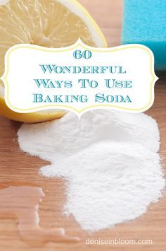 I am so excited to share with you 60 ways to use baking soda! Also known as bicarbonate soda, this ingredient has been around for years and still remains one of the most versatile household items that goes far beyond baking. Cleaning Solutions, Cleaning Hacks, Cleaning Supplies, Just In Case, Just For You, Baking Soda Uses, Tips & Tricks, Cleaners Homemade, Diy Home