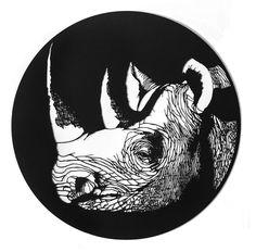Western Black Rhino (Extinct) papercut by shira glezermen. Extinct Animals, Kirigami, Origami Paper, Paper Decorations, Paper Cutting, Stencils, Art Photography, Projects To Try, Papercraft