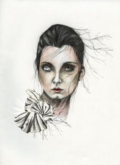 niishe – half of you Halloween Face Makeup, Illustration, Design, Illustrations