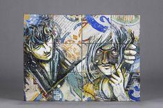 https://flic.kr/p/Fsw58L | Alice Pasquini - Hidden | spraypaint on historical Italian tiles  Alice Pasquini - I'mperfect Tense 16 April - 28 May 2016 44309 Street Art Gallery Rheinische Straße 16 Dortmund - Germany www.44309streetartgallery.net info@44309streetartgallery.net