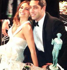 Sofia Vergara and Nick Loeb at the SAG Awards. He seriously needs to move on!
