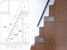 Escalier japonais à pas décalés Tiny House Stairs, Loft Stairs, Interior Stairs, Interior Design Living Room, Compact Stairs, Space Saving Staircase, Tiny Loft, Rustic Stairs, Building Stairs